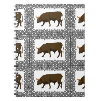 Carnet cubes bruns en taureaux