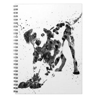 Carnet Dalmate, chien dalmatien, Dalmate d'aquarelle