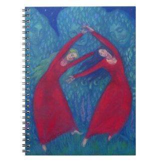 Carnet Danse des sorcières, peinture en pastel, art