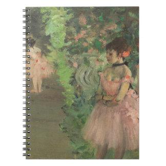 Carnet Danseurs d'Edgar Degas | à l'arrière plan,