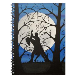 Carnet Danseurs romantiques de silhouette