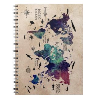carnet de carte du monde