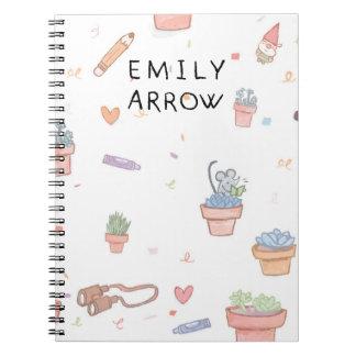Carnet de chansons de flèche d'Emily