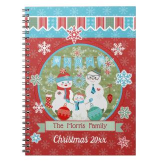 Carnet de coutume de famille de bonhomme de neige