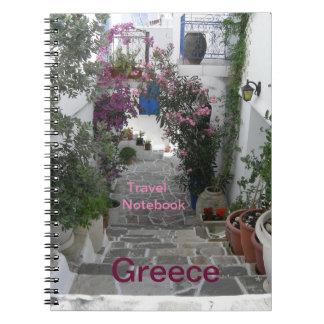 Carnet de destination de voyage de la Grèce