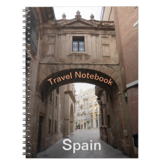 Carnet de destination de voyage de l'Espagne