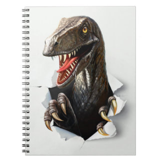 Carnet de dinosaure de Velociraptor