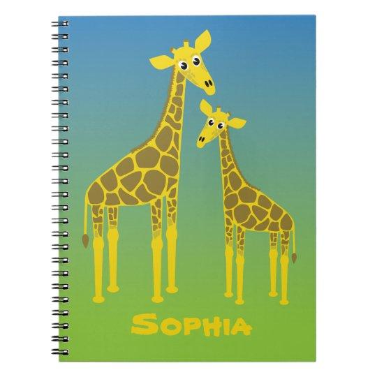 Carnet de famille de girafe