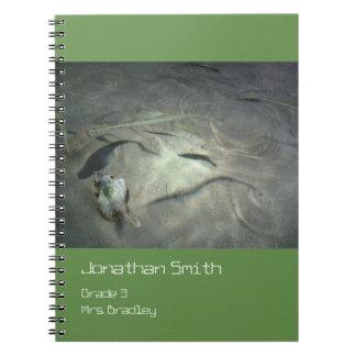 Carnet de la vie de fond océanique, vert,
