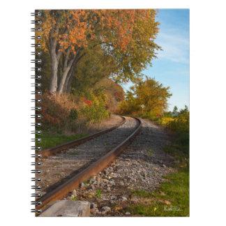 Carnet de note, photo d'un chemin de fer