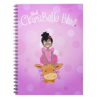 Carnet de notes à spirale bleu de ClaraBelle