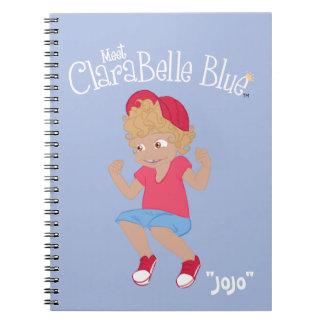 Carnet de notes à spirale bleu de ClaraBelle -