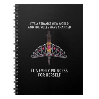 Carnet de notes à spirale : Chaque princesse pour