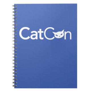 Carnet de notes à spirale de CatCon