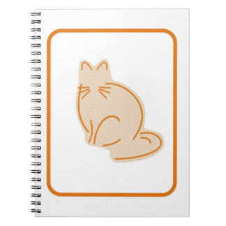 Carnet de notes à spirale de chaton en pastel de