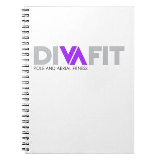 Carnet de notes à spirale de DivaFit (lumière)