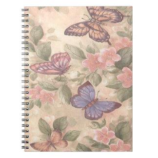 Carnet de notes à spirale de papillon
