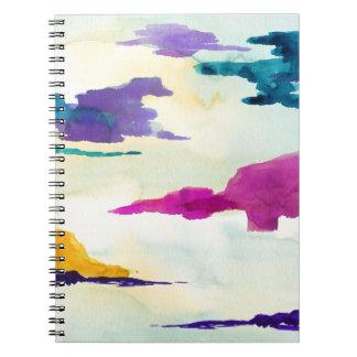 Carnet de notes à spirale de paysage pour