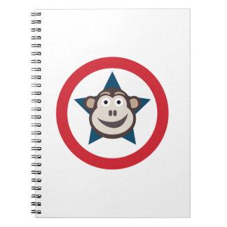 Carnet de notes à spirale de singe superbe