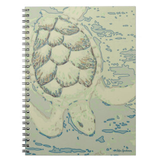 Carnet de notes à spirale de tortue de fantôme