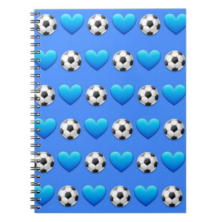 Carnet de notes à spirale d'Emoji de ballon de