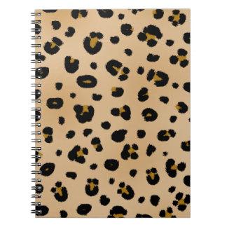 Carnet de notes à spirale d'empreinte de léopard