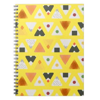 Carnet de notes à spirale jaune d'ONIGIRI