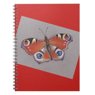 Carnet de papillon de paon
