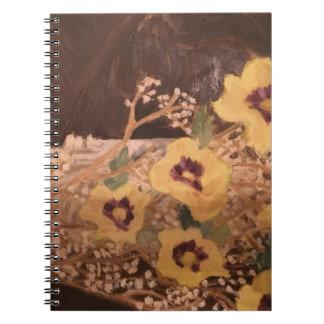 Carnet de photo (80 fleurs de pages B&W) avec un