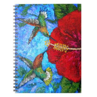 Carnet de photo avec la peinture de colibris