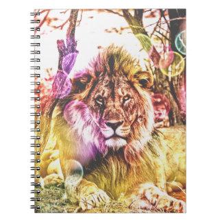 Carnet de photo de lion
