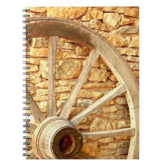 Carnet de photo de roue de chariot