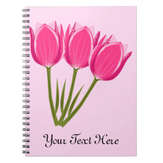 Carnet de photo de tulipes