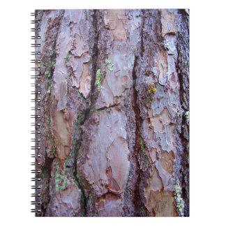 Carnet de photo d'écorce de pin