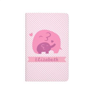 Carnet De Poche Amour mignon de parents d'éléphant et de maman de