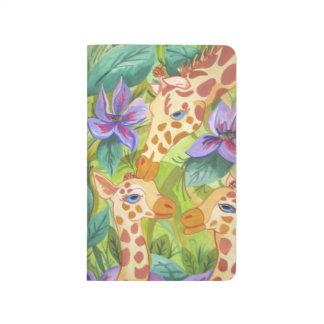 Carnet De Poche Baisers, mère et bébés de girafe