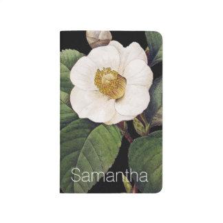 Carnet De Poche Camélia blanc