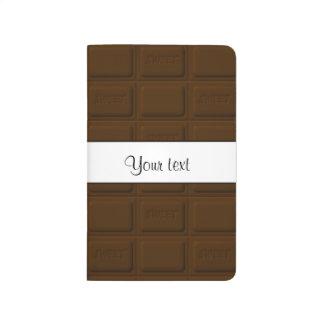 Carnet De Poche Carrés délicieux de chocolat