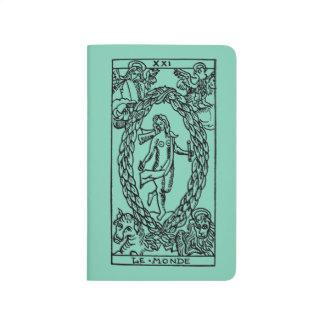 Carnet De Poche Carte de tarot : Le monde