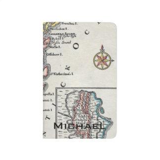 Carnet De Poche Carte : L'Amérique du Nord, C1700