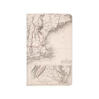 Carnet De Poche Carte : Les Etats-Unis du nord-est