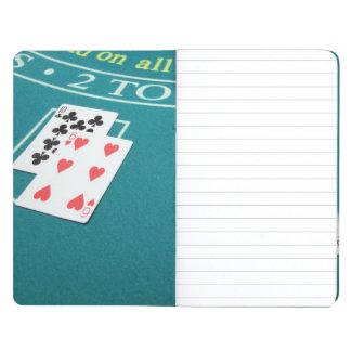 Carnet De Poche Cartes et puces sur parier la table