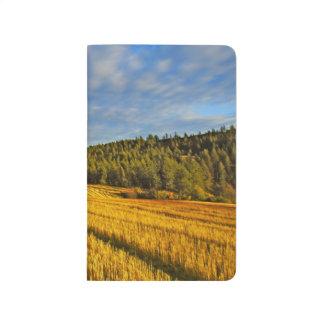 Carnet De Poche Champ de blé après récolte