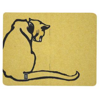 Carnet De Poche Chat jaune vintage
