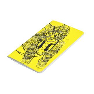 Carnet De Poche Chat noir et blanc drôle dans l'illustration