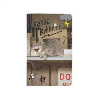Carnet De Poche Chat total de Badass