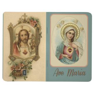 Carnet De Poche Coeur impeccable de balle de Mary et de Jésus