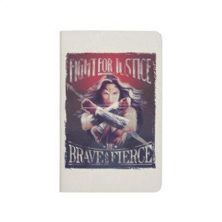 Carnet De Poche Combat de femme de merveille pour la justice