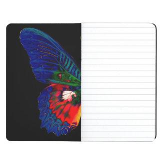 Carnet De Poche Conception colorée de papillon contre le contexte