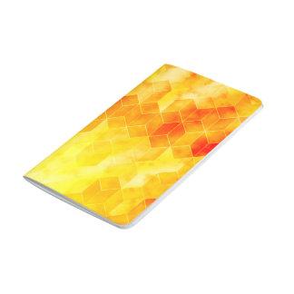 Carnet De Poche Conception géométrique de cube en rayon de soleil